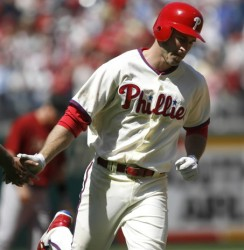 Expect Chase Utley to thrive on mainly right-handed pitching and make 2007 a distant memory (AP/PennLive.com)